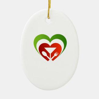 Italian cuisine christmas ornament