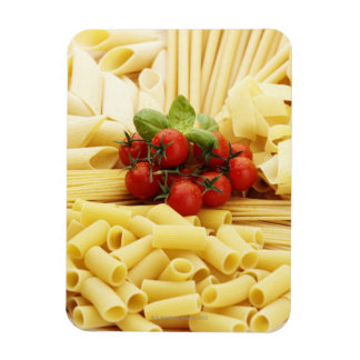 Italian cuisine. Pasta and tomatoes. Rectangle Magnet