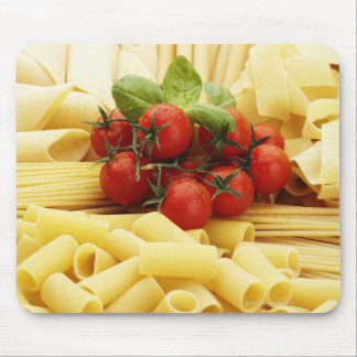 Italian cuisine. Pasta and tomatoes. Mouse Mat