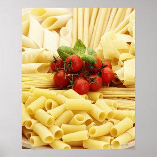 Italian cuisine Pasta and tomatoes Print