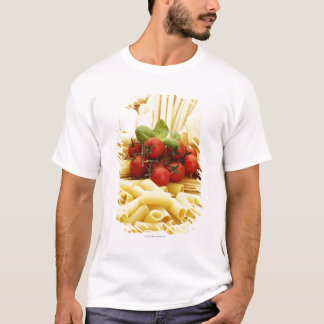 Italian cuisine. Pasta and tomatoes. T-Shirt