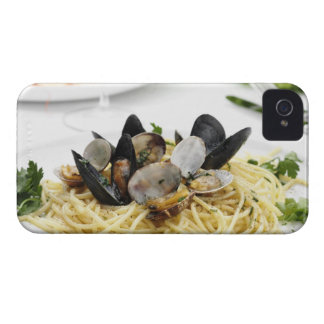 Italian cuisine. Spaghetti alle vongole. Case-Mate iPhone 4 Cases