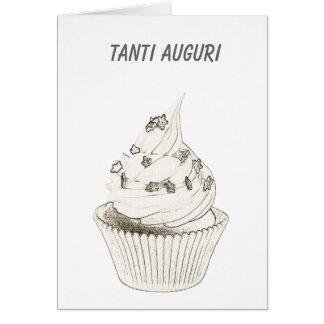Italian Cupcake Birthday / Tanti Auguri Card