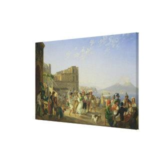 Italian Dancing, Naples, 1836 Canvas Print