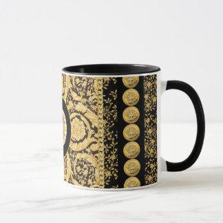 Italian design Medusa, roccoco baroque, black gold