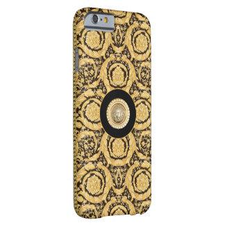 Italian design Medusa, roccoco baroque, black gold Barely There iPhone 6 Case