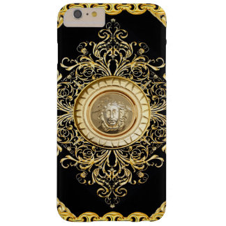 Italian design Medusa, roccoco baroque, black gold Barely There iPhone 6 Plus Case