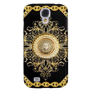 Italian design Medusa, roccoco baroque, black gold Galaxy S4 Case