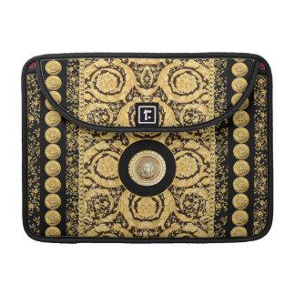 Italian design Medusa, roccoco baroque, black gold MacBook Pro Sleeves