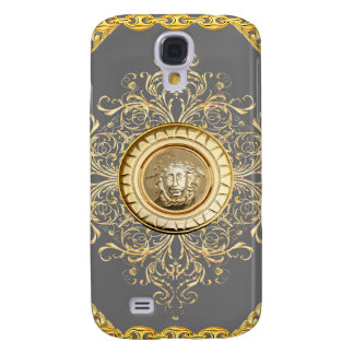 Italian design Medusa, roccoco baroque, grey gold Galaxy S4 Case