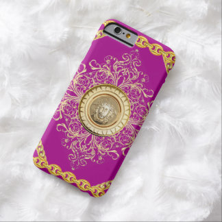 Italian design Medusa, roccoco baroque, pink gold Barely There iPhone 6 Case
