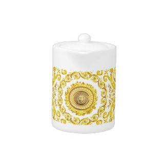 Italian design Medusa, roccoco baroque, white gold