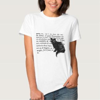 Italian Dictionary cat Tee Shirt