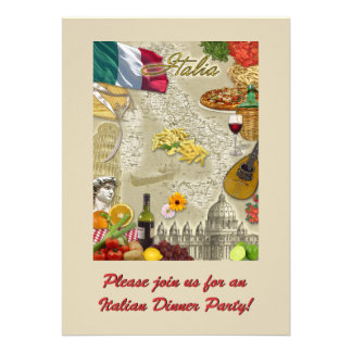 Italian Dinner Party Announcement