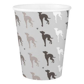 Italian Dog Greyhound Paper Party Cup Iggy