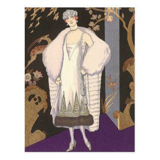 Italian Dress and Coat George Barbier Postcard