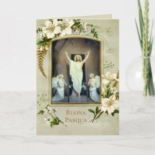 Italian Easter Blessings Buona Pasqua Holiday Card