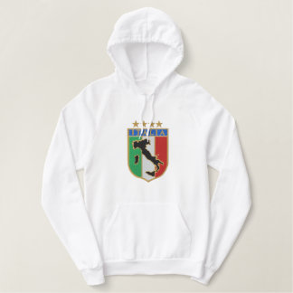 Italian embroidered pullover hoodies sports top