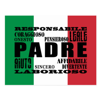 Italian Fathers : Qualities Postcard