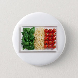 Italian Flag 6 Cm Round Badge