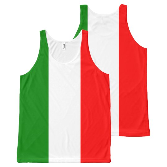 Italian Flag All-Over Printed Tank Top