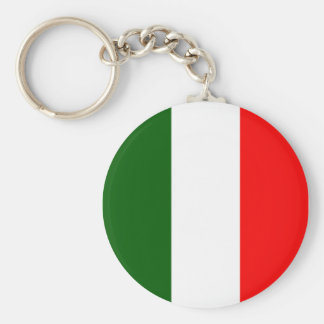 Italian Flag Basic Round Button Key Ring