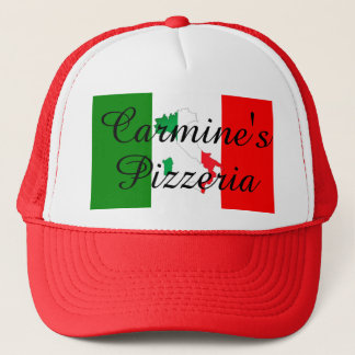 Italian Flag Boot of Italy Business Pizzeria Hat