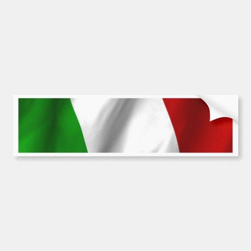 Italian Flag Car Bumper Sticker