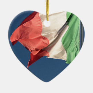 italian flag ceramic heart decoration