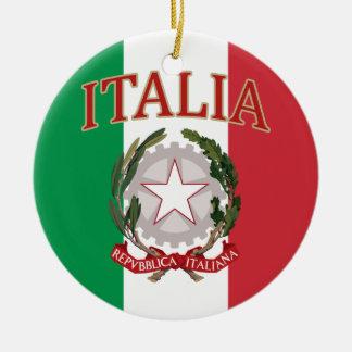 Italian Flag Coat of Arms t-shirt Christmas Ornament
