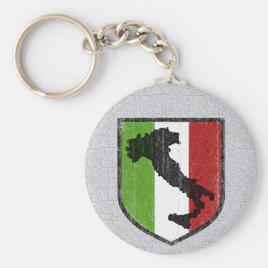 Italian Flag Crest Boot Mediaeval Key Ring