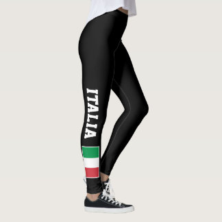 Italian flag custom leggings for sport fitness gym
