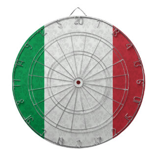 Italian Flag Damask Pattern Dartboard