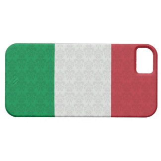 Italian Flag Damask Pattern iPhone 5 Covers