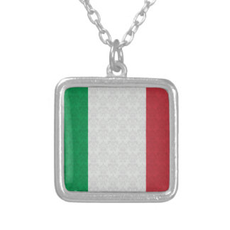 Italian Flag Damask Pattern Pendant