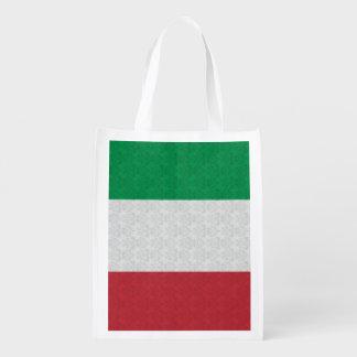 Italian Flag Damask Pattern