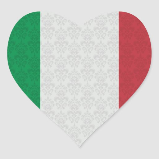 Italian Flag Damask Pattern Stickers