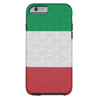 Italian Flag Damask Pattern Tough iPhone 6 Case