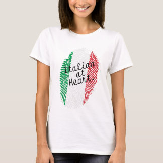 Italian flag fingerprint - shirt