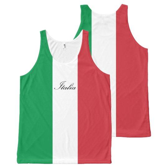 Italian Flag - Flag of Italy - Italia All-Over Print Tank Top