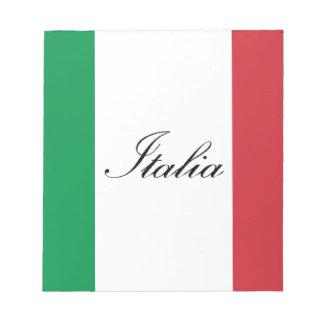 Italian Flag - Flag of Italy -  Italia Notepad