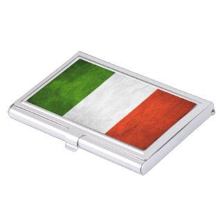 Italian Flag Grunge Business Card Holders