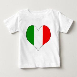 Italian Flag Heart Baby T-Shirt