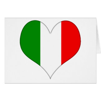 Italian Flag Heart Greeting Card