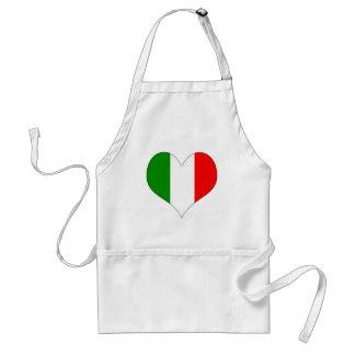 Italian Flag Heart Standard Apron