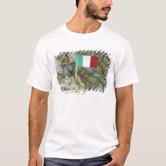 Italian flag in map T-Shirt