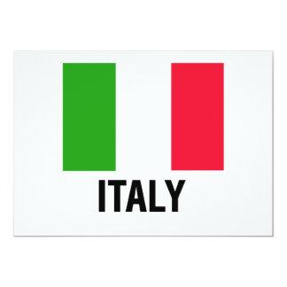 ITALIAN FLAG 13 CM X 18 CM INVITATION CARD