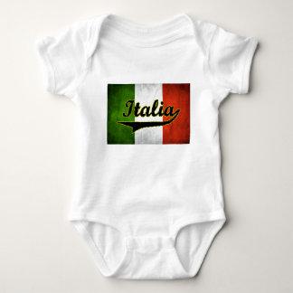 Italian Flag Italia Black Glass (Baby Creeper) T-shirt