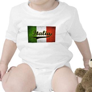 Italian Flag Italia Black Glass (Baby Creeper)