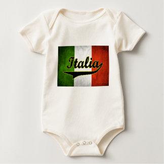 Italian Flag Italia Black Glass White (Baby) Bodysuits
